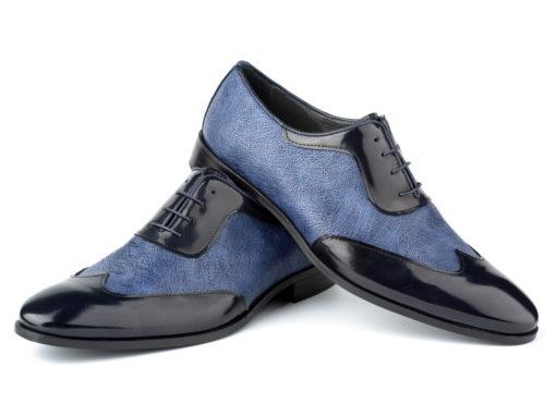 zapatos azules enzoromano