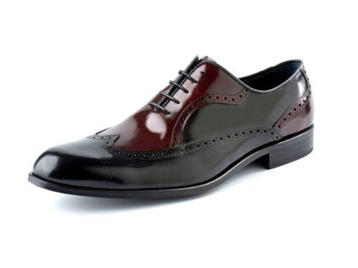 zapato negro y marron enzoromano
