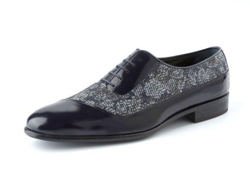 zapato negro floral enzoromano