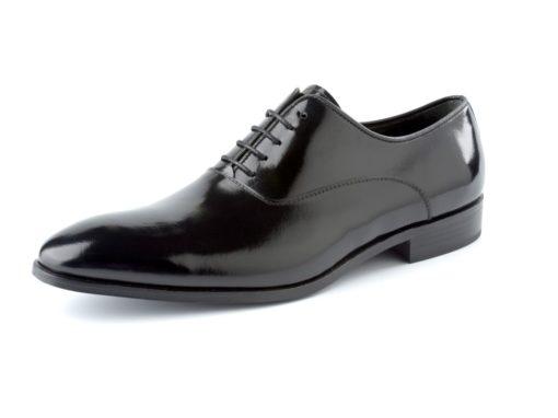 zapato negro brillo enzoromano