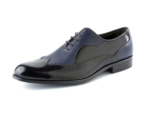 zapato negro azul enzoromano