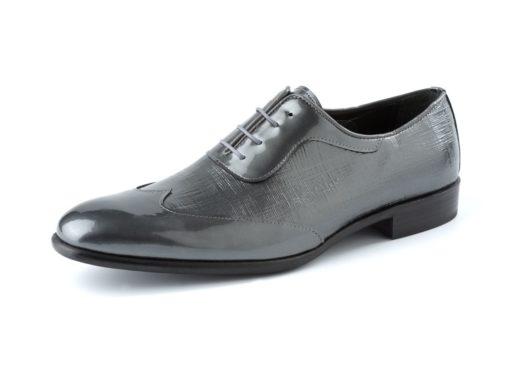 zapato gris y negro enzoromano