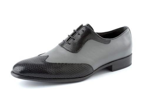 zapato perla y negro enzoromano