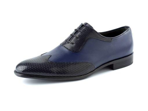 zapato azul y negro enzoromano