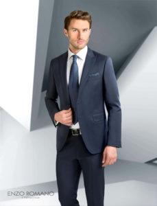 traje de novio clasico azul marino enzo romano