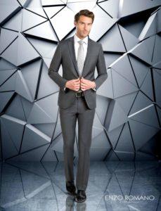 traje de novio clasico gris marengo enzo romano