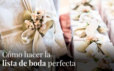 Cómo hacer tu lista de boda